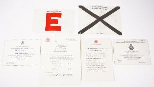 A small group of Royal Family commemorative ephemera, comprising, two reception invitations,