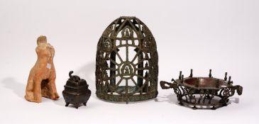 A group of Asian metalwares, various dates.