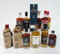 Box 81 - Rum and Whisky Mezan XO Jamacian Rum Belgian Owl single Malt Whisky Maison la Mauny