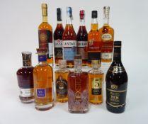 Box 14 - Mixed Spirits Ferrand 1er Cru De Cognac Lustau Brandy De Jerez Famile Naud Cognac XO