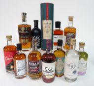Box 82 - Rum and Gin Barbican Botanics spiced Rum Santa Teresa 1796 solera Rum Relicario peated