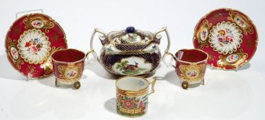A group of English porcelains, early 19th century,