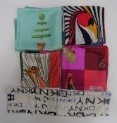 A Bvlgari silk scarf designed by Davide Pizzigoni,