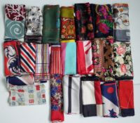 A large collection of silk scarves and handkerchiefs,