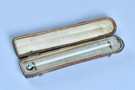 A leather cased thermometer By S.