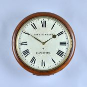 A Victorian mahogany circular Dial timepiece The 12in dial inscribed Thwaites & Reed, Clerkenwell,