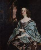 Follower of Sir Peter Lely, Three quarter length portrait of Melusine von der Schulenburg,
