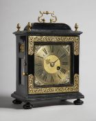A giltbrass-mounted ebonised quarter repeating bracket timepiece In the late 17th Century style,