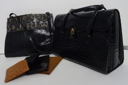 A collection of vintage bags and accessories,