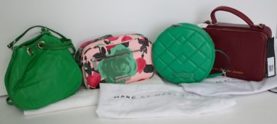 A collection of four lady's handbags by Marc Jacobs,