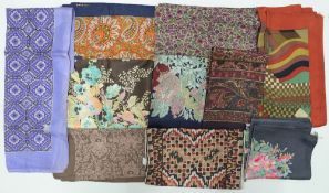 A collection of ten Liberty of London printed silk scarves,