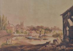 English school, 19th century, Twickenham; Windsor, a pair, watercolour, each 39.5 x 49.
