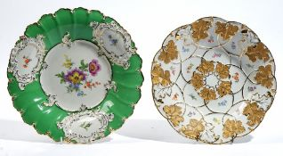 Two Meissen dishes, 20th century,