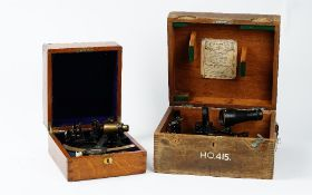 Kelvin & Hughes Ltd, No 66014, sextant fitted in the original box,