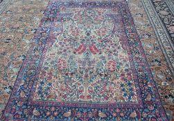 A Kerman prayer rug, Persian,
