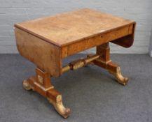 A Regency parcel gilt burr elm and elm banded sofa table,