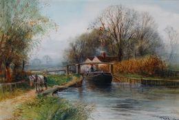 Henry Charles Fox (British, 1855-1929), The Lock Gates,