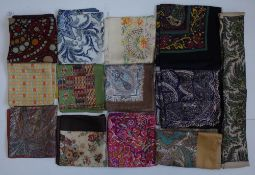 A collection eleven Liberty of London printed silk scarves,
