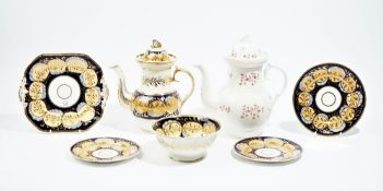 A group of Ridgway porcelains, circa 1820,