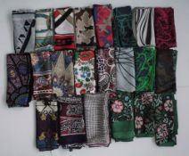 A collection of seven Beckford silk scarves,