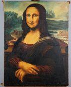 After Leonardo da Vinci, Mona Lisa, oil on canvas, 92.5 x 70.