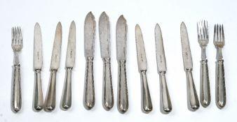 Silver flatware,