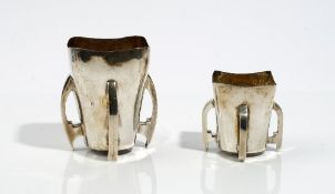 A silver four handled loving cup, 8.
