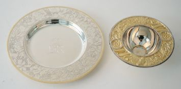 Silver, comprising; a Britannia standard circular dish,