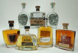 Box 36 - Mixed Spirits (7 bottles) Halewood American Eagle 12YO Bourbon BBC Spirits Panama