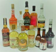 Box 60 - Mixed Spirits Rittenhouse Straight Rye Whisky Muldoon Irish Whiskey Liqueur Graal Tropical