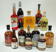 Box 12 - Mixed Spirits Bainbridge Yama Organic Whisky Suoyi Rice Wine Parfait Amour Liqueur De