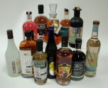 Box 50 - Mixed Spirits Tesco Rum Liqueur Co-op Grapefruit Gin Liqueur Black Mountain No.