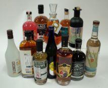 Box 50 - Mixed Spirits Tesco Rum Liqueur Co-op Grapefruit Gin Liqueur Black Mountain No.