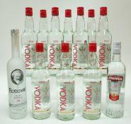 Box 18 - Vodka Tesco Triple-Distilled Grain Vodka (10 bottles) Paderewrski Polish Vodka MV Group