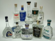 Box 40 - Gin (10 Bottles) Azor Gin Himbrini Winterbird Gin Navy Strength Prohibition