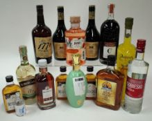 Box 58 - Mixed Spirits Sobieski Vodka Albergaria Liqueur 1776 Rye Whisky Niche Irish Cream
