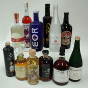 Box 46 - Mixed Spirits Spitzmund Egg Liqueur Highland Boundary Scottish Liqueur Keys and Bricks