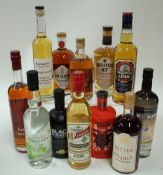Box 45 - Mixed Spirits AWA Gin Royal Canadian Whisky Black Mountain Whisky Munch Aquavit