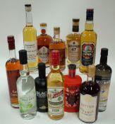Box 45 - Mixed Spirits AWA Gin Royal Canadian Whisky Black Mountain Whisky Munch Aquavit