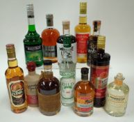 Box 43 - Mixed Spirits Bardinet Creme de Menthe Bainbridge Wheat Whisky Moose Alpine Spirit