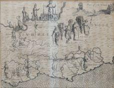[DRAYTON, Michael (1563-1631) & William HOLE (d. 1624)]. Surrey ... Sussex.