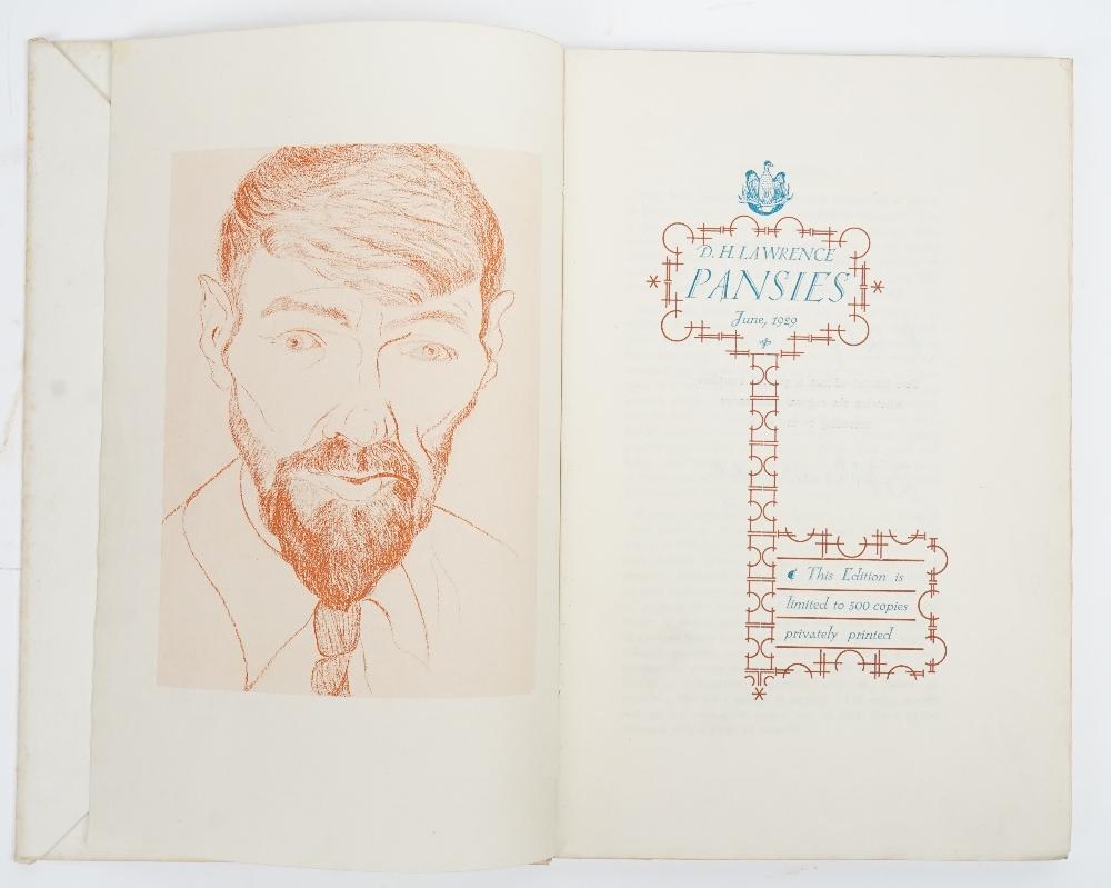 LAWRENCE, D. H. (1885-1930). Pansies. [Colophon:] London: P. R. Stephensen, June 1929. - Image 2 of 4