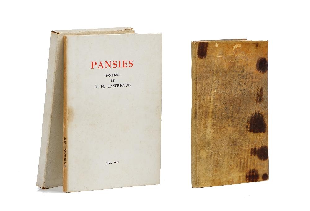 LAWRENCE, D. H. (1885-1930). Pansies. [Colophon:] London: P. R. Stephensen, June 1929.