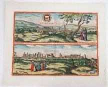 [BRAUN, Georg (1541-1622) & Frans HOGENBERG (1535-90)]. Oxonium … Vindesorium. [Cologne: c. 1575].