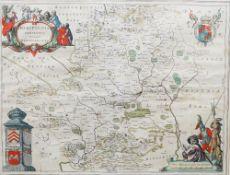 [BLAEU, Joannes (1596-1673)]. Hertfordia Comitatus. Vernacule Hertfordshire. [Amsterdam: c. 1648].