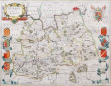 [BLAEU, Joannes (1596-1673)]. Surria Vernacule Surrey. [Amsterdam: c. 1662].