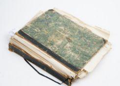 ALBUM - A substantial folio album (450 x 300mm) containing c.