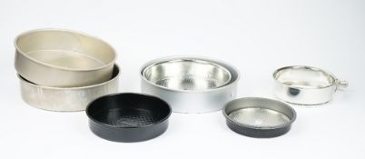 A collection of bake ware, to include wire racks, muffin tins, cake tins,