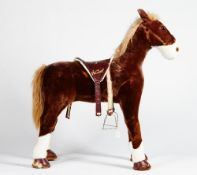 A child's Hamleys plush horse,