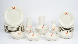 A Fenella Smith breakfast service (qty).
